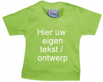 Mini shirt appelgroen