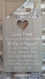 Tekstbord lieve Peter
