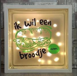 Glasblok met verlichting Broodje - Prijs vanaf