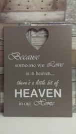Tekstbord Because someone we love
