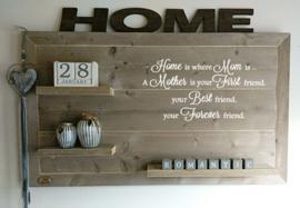 Wandbord Home is where Mom is