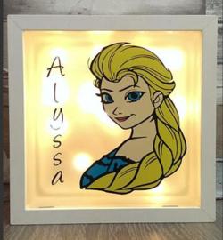 Decoratie glasblok met verlichting Elsa Frozen - Prijs vanaf