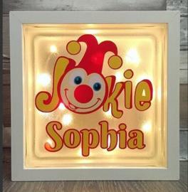 Decoratie glasblok met verlichting Jokie - Prijs vanaf