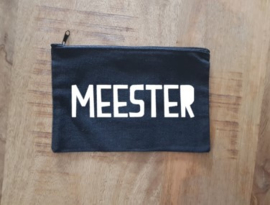 Canvas etui Meester