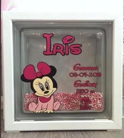 Decoratie glasblok met muisjes Minnie Mouse 2 - Prijs vanaf