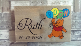 Geboorteplankje Winnie the Pooh Ballonnen