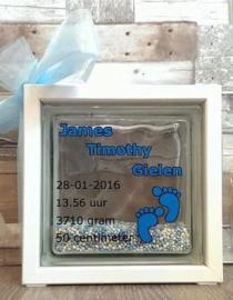 Decoratie glasblok met muisjes 3 - Prijs vanaf
