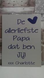 Tekstbord De allerliefste papa