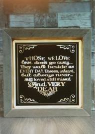 Decoratie glasblok met verlichting Those we love - Prijs vanaf