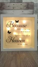 Decoratie glasblok met verlichting Because someone we love 1 - Prijs vanaf