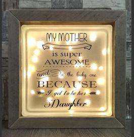 Glasblok met verlichting My Mother - Prijs vanaf