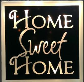 Glasblok met verlichting Home sweet home - Prijs vanaf