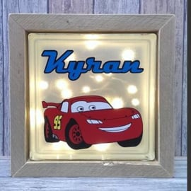 Decoratie glasblok met verlichting Cars - Prijs vanaf