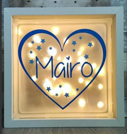 Decoratie glasblok met verlichting Hart 2 - Prijs vanaf