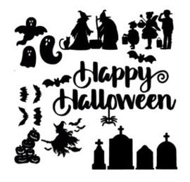 Raamstickers uitbreidingsset Halloween