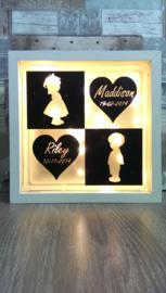 Decoratie glasblok met verlichting Kindjes - Prijs vanaf