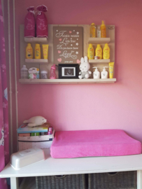 Wandbord steigerhout met tekst babykamer