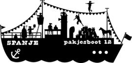 Raamsticker Pakjesboot