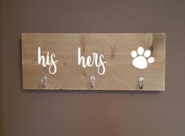 sleutel en hondenriem bordje