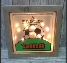 Decoratie glasblok met verlichting FC de kampioenen - Prijs vanaf