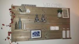 Wandbord steigerhout met legplankjes 017