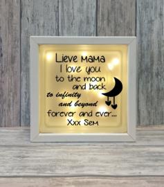 Decoratie glasblok met verlichting If there ever comes a time - Prijs vanaf