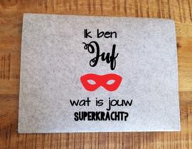 Bewaar envelop super juf