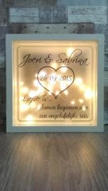 Decoratie glasblok met verlichting Liefde is: 2 - Prijs vanaf