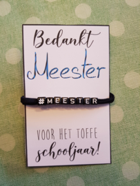Meester armband