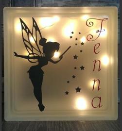 Decoratie glasblok met verlichting Tinkerbell 3 - Prijs vanaf