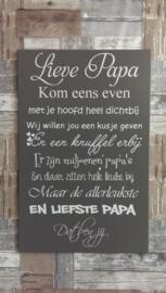 Tekstbord Lieve papa 2