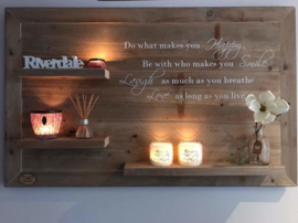 Wandbord Do what makes you happy