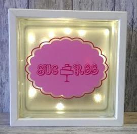 Glasblok met verlichting Taart - Prijs vanaf