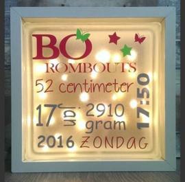 Decoratie glasblok met verlichting geboorte 4 - Prijs vanaf