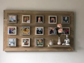 Wandbord steigerhout met foto's