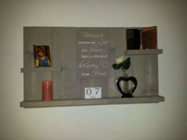 Wandbord steigerhout met tekst Because someone we love is in heaven
