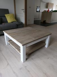 Salontafel steigerhout wit onderstel