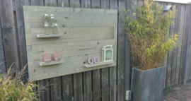 Wandbord steigerhout voor buiten