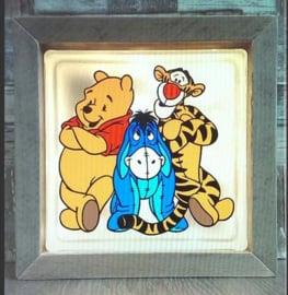 Decoratie glasblok met verlichting Winnie de Poeh, Igor & Teigertje- Prijs vanaf