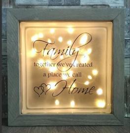 Glasblok met verlichting Family 2 - Prijs vanaf