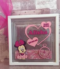 Decoratie glasblok met muisjes Minnie Mouse - Prijs vanaf