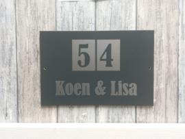 Naambordje voordeur 15x20cm