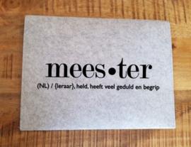 Bewaar envelop meester