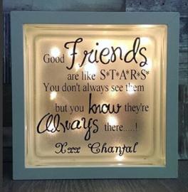 Glasblok met verlichting Friends - Prijs vanaf