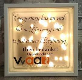 Glasblok met verlichting Vvaa - Prijs vanaf