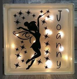 Decoratie glasblok met verlichting Tinkerbell 2 - Prijs vanaf