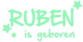 Geboorte raamsticker Ruben