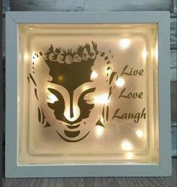 Glasblok met verlichting Boeddha 3L - Prijs vanaf