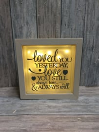 Glasblok met verlichting Loved you yesterday
