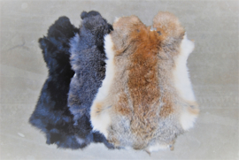 Konijnenhuiden of konijnenvachten mix naturel 10 stuks.